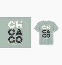 Chicago stylish t-shirt and apparel design vector