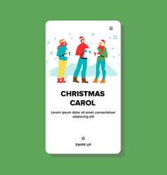 Christmas carol singing people singers vector