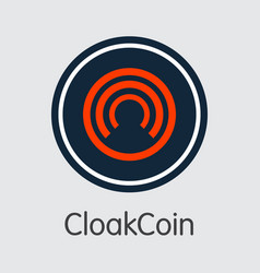 Cloakcoin virtual currency - sign icon vector