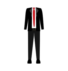 color silhouette with male clothing thin elegant vector image