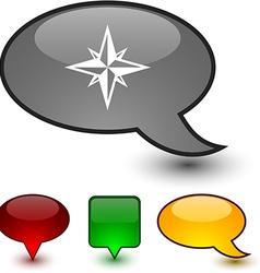 Compass speech comic icons vector