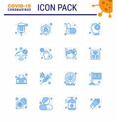 coronavirus awareness icons 16 blue icon corona vector image