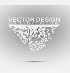Crystal frozen structure vector