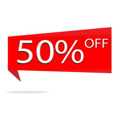discount 50 percent on white background special vector image