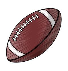 drawing amerian football ball equipment vector image