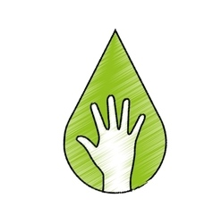 Hand human ecology symbol vector