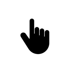 Hand pointer clicking click finger flat icon vector