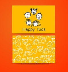 Happy kids logo vector