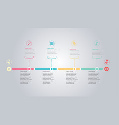 horizontal timeline infographic element background vector image