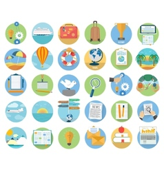 Icons set traveling and planning a summer vector