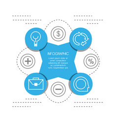 Infographic template circle and education icon vector