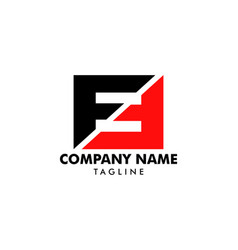 Initial letter ff logo template design vector