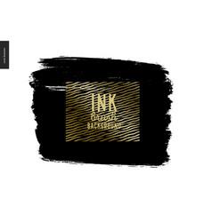 Ink brush background vector