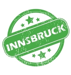 Innsbruck green stamp vector