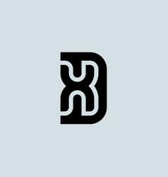 letter d and x logo design minimalistic monogram vector image