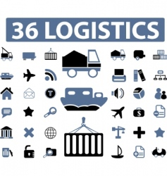 logistics signs vector image