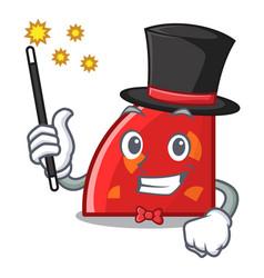 Magician quadrant mascot cartoon style vector