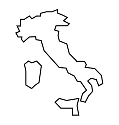 Map of italy icon outline style vector