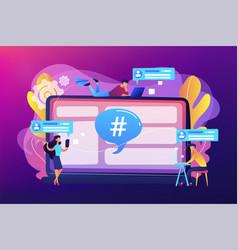 Microblog platform concept vector