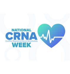 National crna week certified registered nurse vector