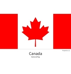 National flag canada with correct proportions vector