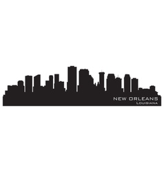 New orleans louisiana skyline vector
