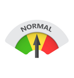 Normal level risk gauge icon normal fuel on white vector