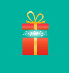 Opened gift vector