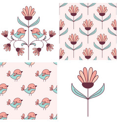Patterns and design elements collection vector