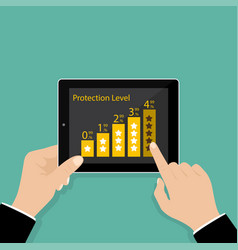protectoin level vector image