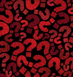 Question marks seamless pattern hand drawn lines vector image vector image
