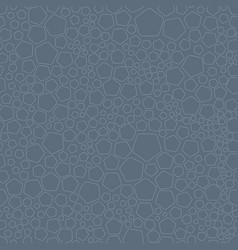 random pentagons seamless pattern vector image