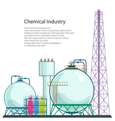 Refinery processing natural resources isolated vector