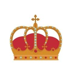 royal king crown vector image