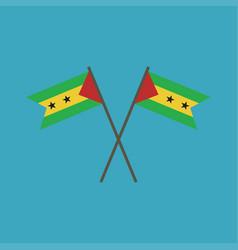 sao tome and principe flag icon in flat design vector image