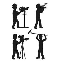 set of camera mens vector image