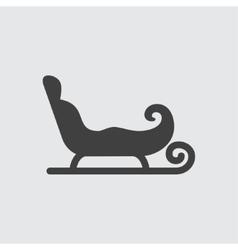 Sleigh icon vector