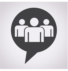 speech bubble group people icon vector image