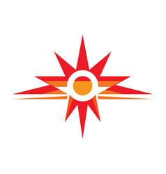 sun rays - logo template concept vector image
