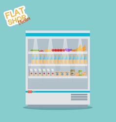 Supermarket flat vector