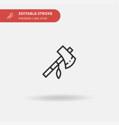 tomahawk simple icon symbol vector image