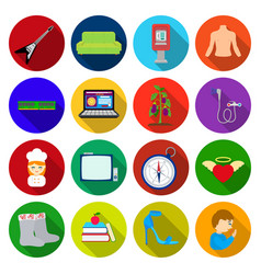Travel trade business and other web icon in flat vector