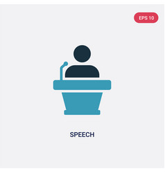 two color speech icon from strategy concept vector image
