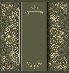 Vintage luxury card or invitation vector image