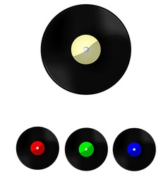 Vinyl set vector image