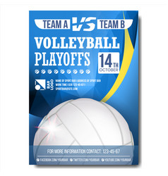 Volleyball poster design for sport bar vector