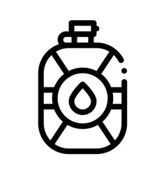 Water flask icon outline vector