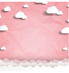 white cloud with pink background vector image