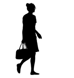 black silhouettes of beautiful woman on white vector image