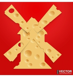 Mill and cheese vector